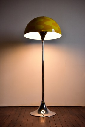 pantonworld, flowerpot, panthella, floor lamp, limited edition , two shades of yellow