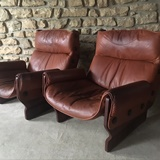 PAIR OF CANADA LOUNGE CHAIRS