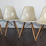 SET OF 4 EAMES CHAIRS
