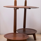 SET OF 2 SIDE TABLES IN WOOD