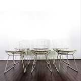 SET OF 6 HARRY BERTOIA SIDE CHAIRS PRODUCED BY KNOLL INTERNATIONAL