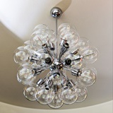 CHANDELIER WITH 28 GLASS GLOBES
