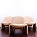 SET OF 3 EASY CHAIRS BY GIANCARLO PIRETTI