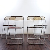 SET OF 4 PLIA FOLDING CHAIRS DESIGNED BY GIANCARLO PIRETTI