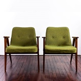 PAIR OF 366 JOZEF CHIEROWSKI ARMCHAIRS