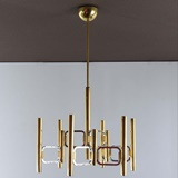 RARE TWO TONE SCIOLARI CHANDELIER